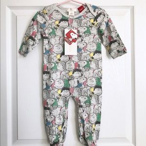Zara Home Charlie Brown footed sleeper